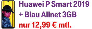 Huawei P Smart 2019 günstig bei Blau.de