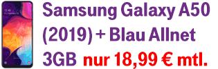 Samsung Galaxy A50 bei Blau.de