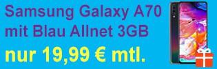 Samsung Galaxy A70 bei Blau.de