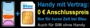Smartphones bei Blau ohne Anschlusspreis