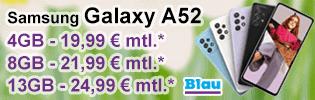 Samsung Galaxy A52 bei Blau.de