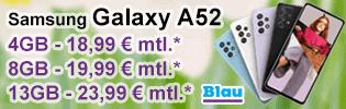 Samsung Galaxy A52 günstig bei Blau.de
