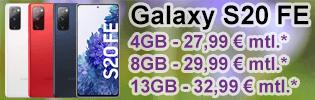 Samsung Galaxy S20 FE günstig bei Blau.de